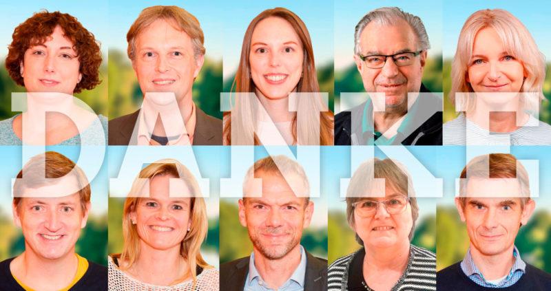 Grüne Riedstadt sagen Danke